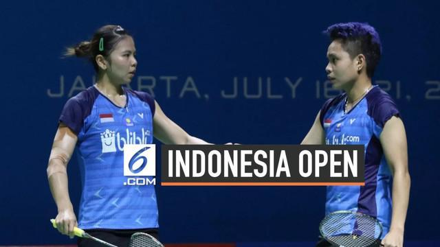 Greysia Polli dan Apriyani Rahayu harus tersingkir dari Indonesia Open 2019 setelah dikalahkan ganda putri asal Korea Selatan 2-1.