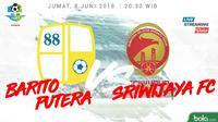 Liga 1 2018 Barito Putera Vs Sriwijaya FC (Bola.com/Adreanus Titus)