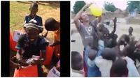 Momen Haru Anak Afrika Dapat Mainan Ini Bikin Terenyuh (sumber/Twitter: @HergunYeniBilg )