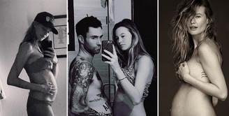 Model Behati Prinsloo istri dari pentolan band Maroon 5, Adam Levine baru saja melahirkan anak pertamanya. Rabu, (21/9/2016) Behati melahirkan di California. Demi sang buah hatinya, Levine rela mengundurkan konsernya. (Instagram/behatiprinsloo)