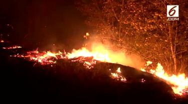 California kembali mengalami kebakaran besar disertai angin kencang yang menghanguskan ribuan rumah.