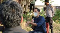 Menteri Pendidikan dan Kebudayaan, Nadiem Makarim saat berdialog dengan guru dan kepala sekolah di Kota Palu, Rabu (4/11/2020). (Foto: Liputan6.com/ Heri Susanto).