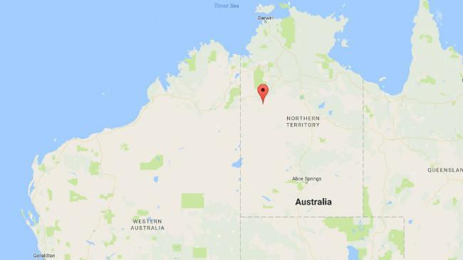 Letak kota terpencil Lajamanu di gurun Australia. (Sumber Google Maps)