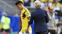 James Rodriguez mengalami cedera. (AP/Martin Meissner)