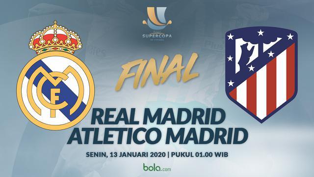 Jadwal Final Piala Super Spanyol Atletico Madrid Tantang Real
