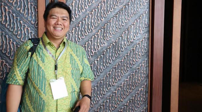 Fikri, Head of Business Operations PT. Metraplasa saat menjadi pembicara di ajang IESE 2017. Liputan6.com/Dewi Widya Ningrum