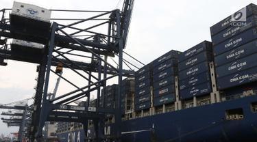 Wow, Kapal Besar Ini Bawa Ekspor Manufaktur Indonesia ke AS