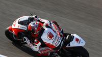 Andi Gilang saat mengikuti tes pramusim Moto2 2020 di Sirkuit Jerez, Spanyol. (Twitter/Honda Team Asia)