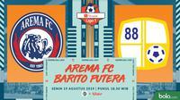 Shopee Liga 1 - Arema FC Vs Barito Putera (Bola.com/Adreanus Titus)