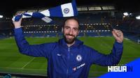 Striker asal Argentina, Gonzalo Higuain resmi bergabung dengan Chelsea (Foto: ChelseaFC)