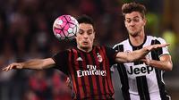 6. Giacomo Bonaventura (AC Milan) - Gelandang yang kontraknya habis tahun 2020 ini ditaksir situs Transfermarkt memiliki harga jual 24 juta euro. (AFP/Filippo Monteforte)