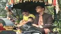 Di resepsi Kahiyang-Bobby, cucu laki-laki Presiden Jokowi, Jan Ethes, beraksi menggemaskan. (Dokumen Istimewa/Indosiar)