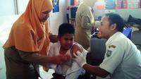 Jangan buru-buru menolak vaksin MR, ini beberapa hal yang harus diketahui oleh para orangtua. (Foto: Liputan6.com/Fajar Eko Nugroho)