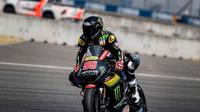 Pembalap Yamaha Tech 3, Hafizh Syahrin merasa puas dengan hasil tes pramusim MotoGP 2018 di Sirkuit Buriram, Thailand. (Twitter/Yamaha Tech 3)