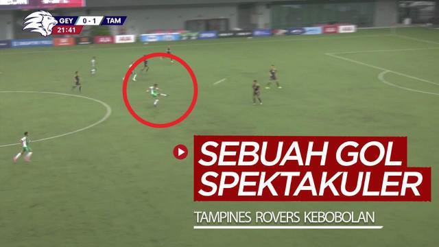 Berita video momen Tampines Rovers kebobolan gol spektakuler di Liga Singapura 2020 pada Sabtu (7/11/2020) sore hari WIB.