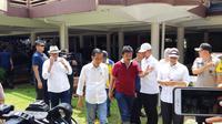Presiden Jokowi meninjau kawasan terdampak tsunami Selat Sunda. (Liputan6.com/Fachrur Rozie)