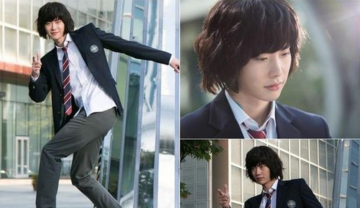Wajah tampan Lee Jong Suk seakan berubah saat ia memerankan Choi Dal Po di Pinocchio. Gaya rambutnya terlihat buruk dan potongannya sengaja tak dibuat rata. (Foto: soompi.com)