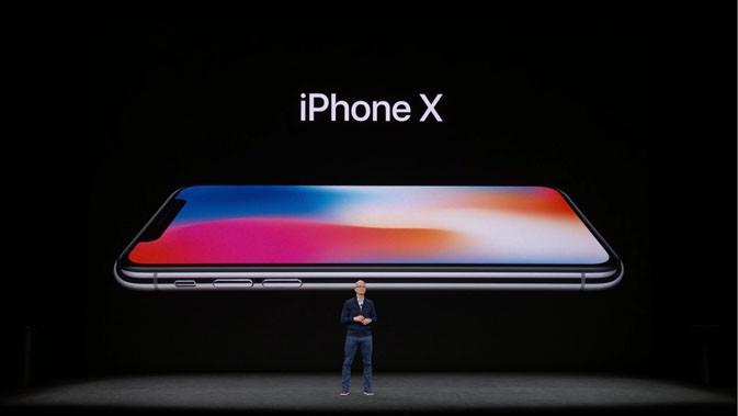CEO Apple, Tim Cook saat peluncuran iPhone X, Rabu (13/9/2017). (Doc: Istimewa)