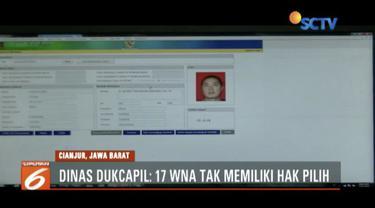 Heboh, 17 WNA di Cianjur punya KTP elektronik. Namun Disdukcapil tegaskan mereka tak punya hak pilih dalam Pemilu.