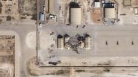 Gambar satelit menunjukkan kerusakan pangkalan udara AS di Ain al-Asad setelah terkena roket dari Iran di Irak barat, Rabu (8/1/2020). Iran menembakkan lebih dari selusin rudal balistik ke setidaknya dua pangkalan udara Irak yang menjadi pangkalan pasukan Amerika Serikat. (HO/Planet Labs Inc./AFP)