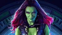 Zoe Saldana sebagai Gamora di Guardians of the Galaxy. (Via: ScreenRant)