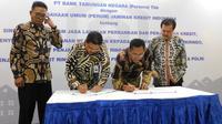Perum Jamkrindo kerja sama dengan BTN dalam rangka meningkatkan layanan perbankan dan penjaminan kredit.