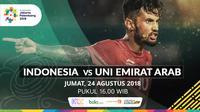 Sepak Bola Asian Games 2018 Indonesia Vs Uni Emirat Arab (UEA) (Bola.com/Adreanus Titus)