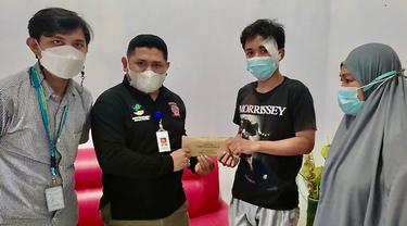 Pesepeda Korban Mobil Rescue di Makassar Terima Bantuan Rp5 Juta dari Mensos