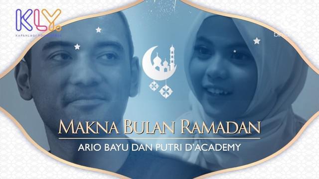 Begini Ario Bayu dan Putri DA 4 memaknai bulan Ramadan