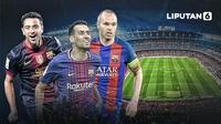 Barcelona beruntung memiliki tiga gelandang paling jenius di eranya (Liputan6.com/Abdillah)