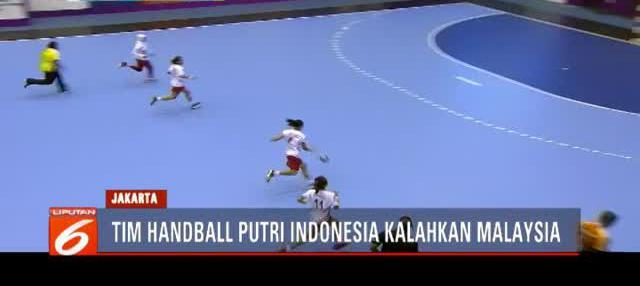 Anggota Timnas bola tangan, Apriliani,  mengamuk di babak kedua pertandingan penyisihan Grup B Asian Games dengan membobol gawang Malaysia sebanyak enam kali.
