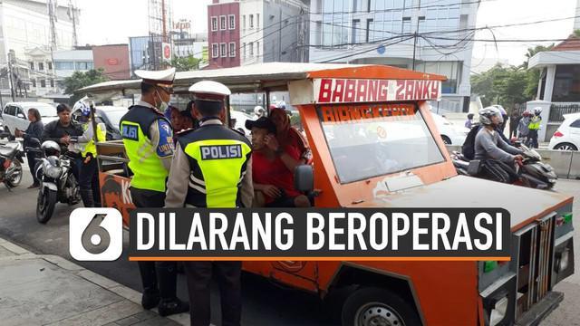 Dishub DKI Jakarta melarang odong-odong beroperasi.