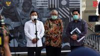 Menteri Kesehatan Terawan Agus Putranto dalam keterangan pers terkait uji klinis vaksin COVID-19 dari Tiongkok di Istana Kepresidenan, Jakarta, Selasa (21/7/2020). (Dok Sekretariat Kabinet/Setkab)