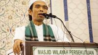 Ustad Abdul Somad saat berceramah di Masjid Wilayah Persekutuan Kuala Lumpur.
